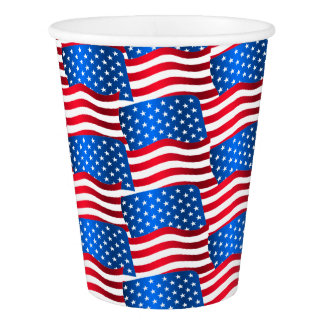 USA flags Paper Cup