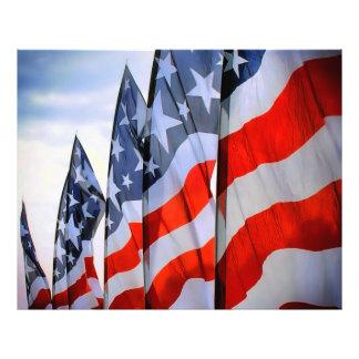 USA Flags Photo Paper Print