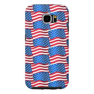 USA flags Samsung Galaxy S6 Case