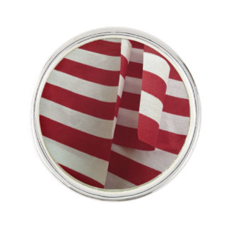 USA flags stacked Lapel Pin