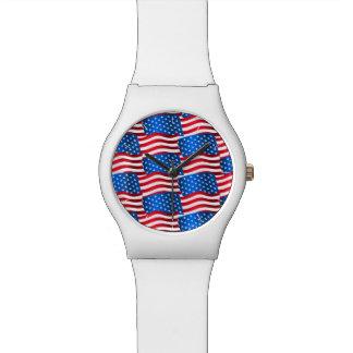 USA flags Watch