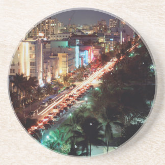 USA, Florida, Miami Beach, Ocean Drive, Art Deco 2 Coaster