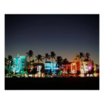 USA, Florida, Miami Beach, Ocean Drive, Art Deco Poster