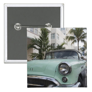 USA, Florida, Miami Beach: South Beach, 1956 3 2 Inch Square Button
