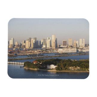 USA, Florida, Miami, Cityscape with coastline Magnet