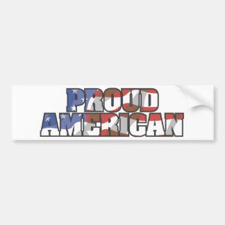 USA-Flowing Proud American Bumper Sticker