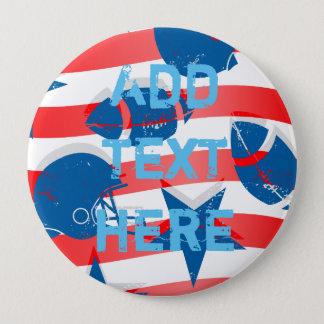 USA football 4 Inch Round Button