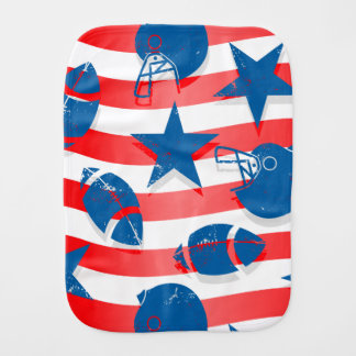 USA football Burp Cloths