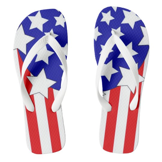 USA Fourth of July popular Flip flops