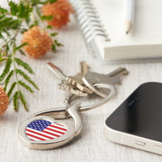 USA Freedom Flag Key Chain