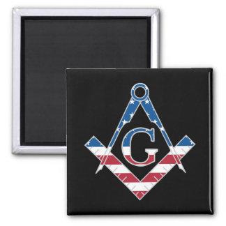 USA Freemasonic symbol Magnet