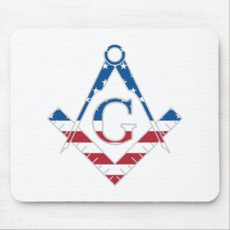 USA Freemasonic symbol Mouse Pad