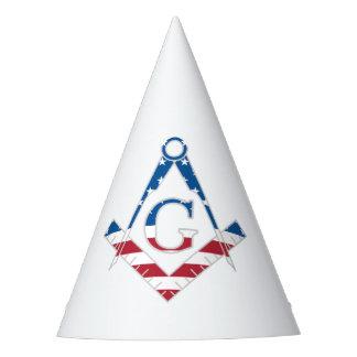 USA Freemasonic symbol Party Hat