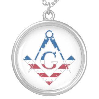 USA Freemasonic symbol Silver Plated Necklace