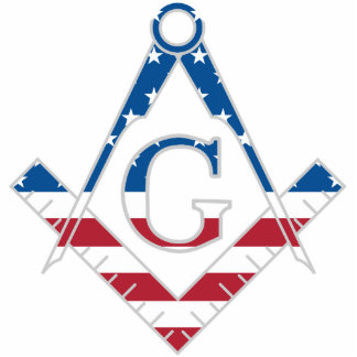 USA Freemasonic symbol Standing Photo Sculpture