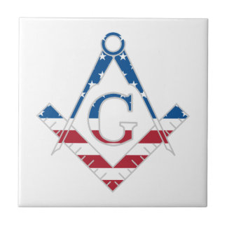 USA Freemasonic symbol Tile