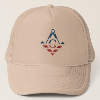 USA Freemasonic symbol Trucker Hat