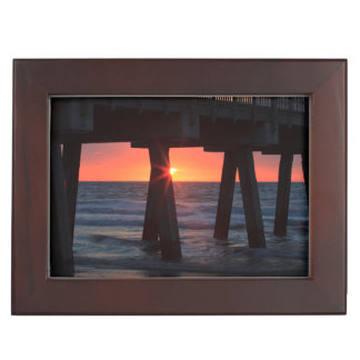 USA, Georgia, Tybee Island, Tybee Pier Memory Boxes