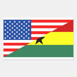 usa ghana country half flag america symbol sticker