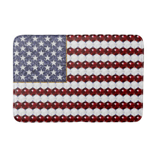 USA Glitter and Gem Flag-Medium Bath Mat