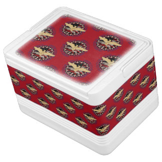 USA Gold Eagle and Flag-Red-Blue-12 Can Igloo