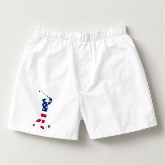 USA golf America flag golfer Boxers