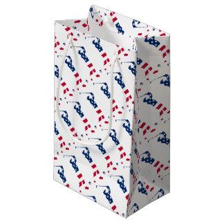 USA golf America flag golfer Small Gift Bag