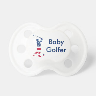 USA golf American flag golfer Baby Pacifiers