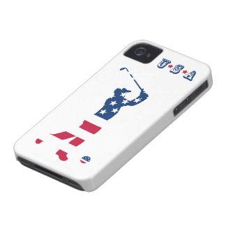 USA golf American flag golfer Case-Mate iPhone 4 Cases