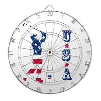 USA golf American flag golfer Dartboard
