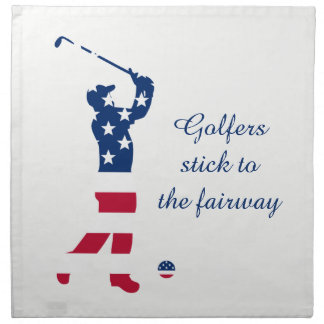 USA golf American flag golfer Napkin