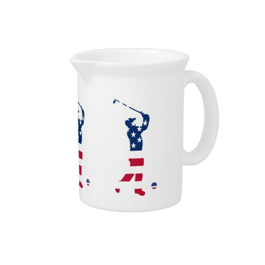 USA golf American flag golfer Pitcher