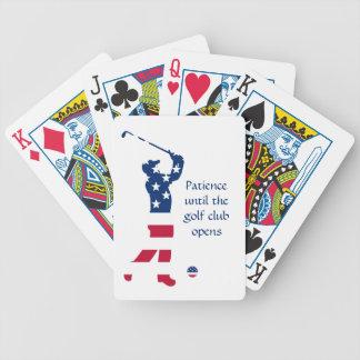 USA golf American flag golfer Poker Deck