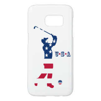 USA golf American flag golfer Samsung Galaxy S7 Case