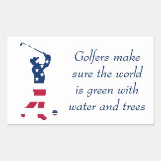 USA golf American flag golfer Sticker