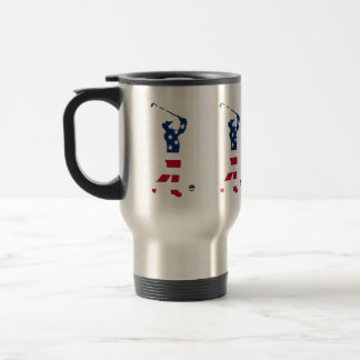 USA golf American flag golfer Travel Mug