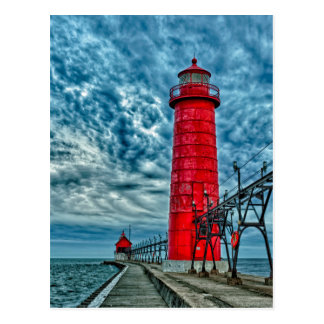 USA, Grand Haven, Michigan, lighthouse Postcard