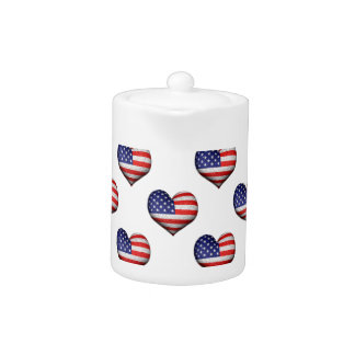 Usa Grunge Heart Shaped Flag Pattern