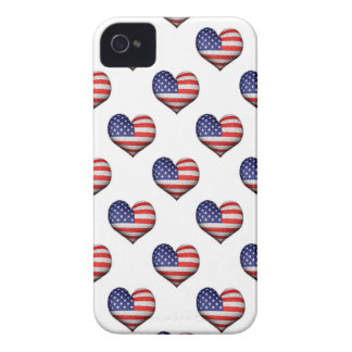 Usa Grunge Heart Shaped Flag Pattern iPhone 4 Case-Mate Case