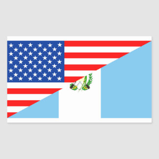 usa guatemala country half flag america symbol sticker