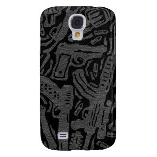 USA Gun Land Map - Grey on Black Galaxy S4 Cases