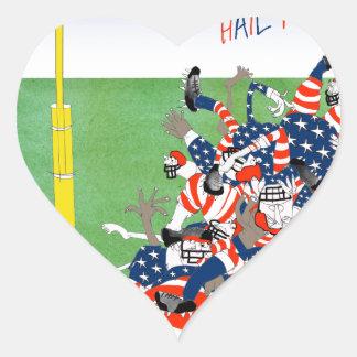 USA hail mary pass, tony fernandes Heart Sticker