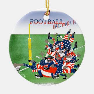 USA hail mary pass, tony fernandes Round Ceramic Ornament