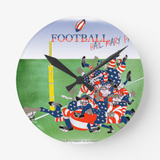 USA hail mary pass, tony fernandes Round Clock