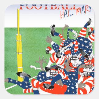 USA hail mary pass, tony fernandes Square Sticker