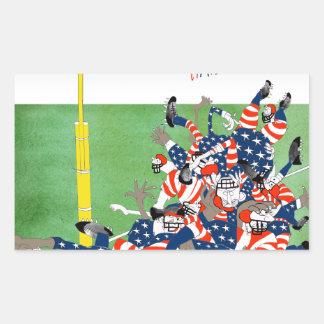 USA hail mary pass, tony fernandes Sticker