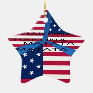 USA HAKUNA  MATATA CERAMIC STAR ORNAMENT