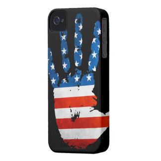 USA Handprint iPhone 4 ID Case-Mate