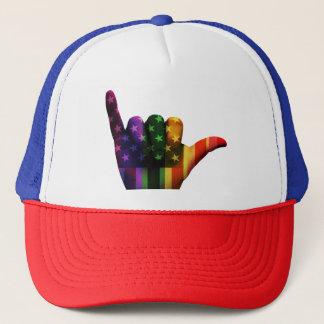 USA Hang Loose Rainbow Trucker Hat