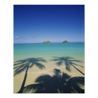 USA, Hawaii, Kailua. Lanikai Beach. 2 Poster